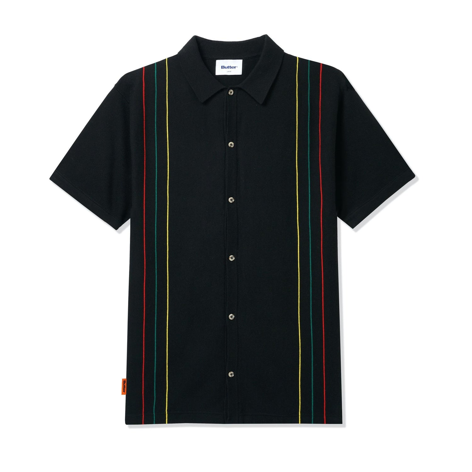 Stripe Knit Shirt, Black
