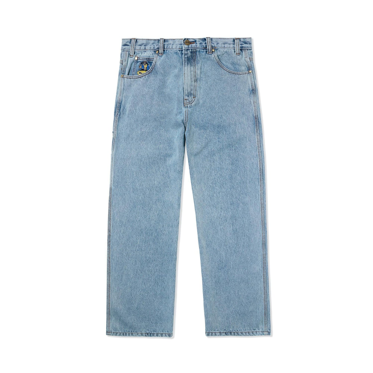 Homeboy Denim Pants, Washed Light Blue