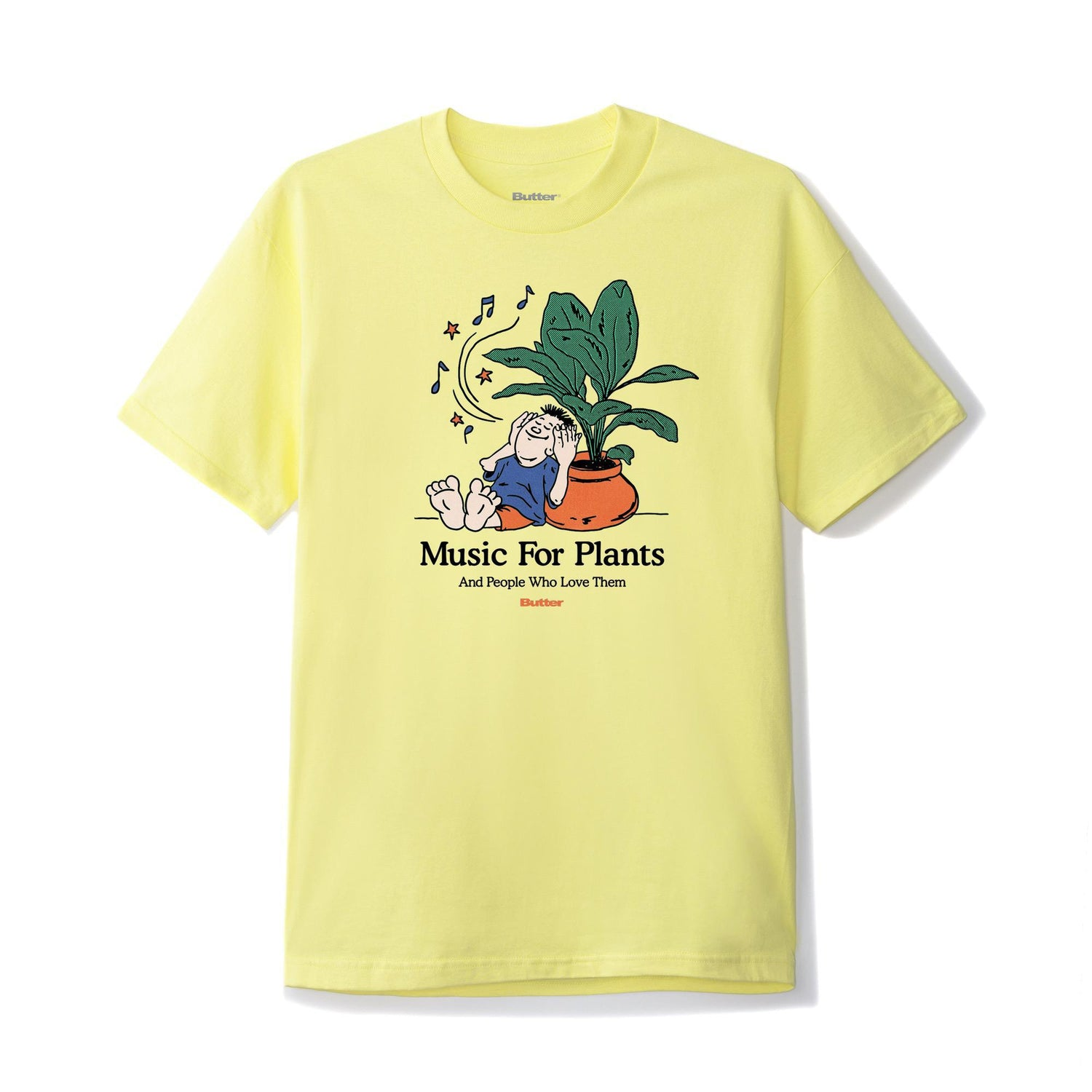 Music For Plants Tee, Banana