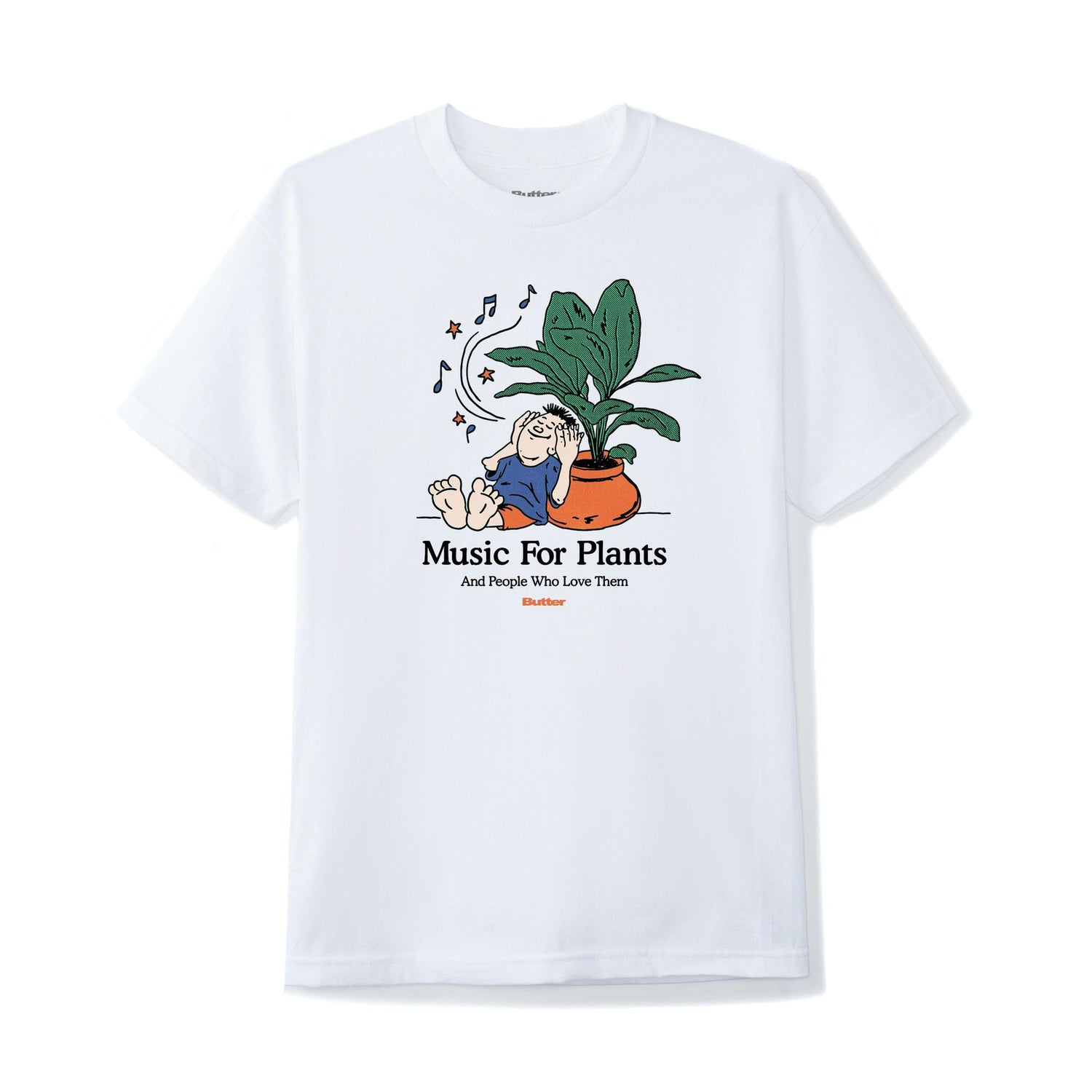 Music For Plants Tee, White
