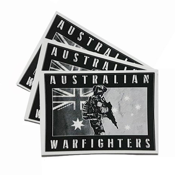 DeltaEchoApparel Accessories AUSTRALIAN WARFIGHTER STICKERS