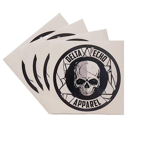 DeltaEchoApparel Accessories DELTAECHO APPAREL SKULL LOGO STICKERS