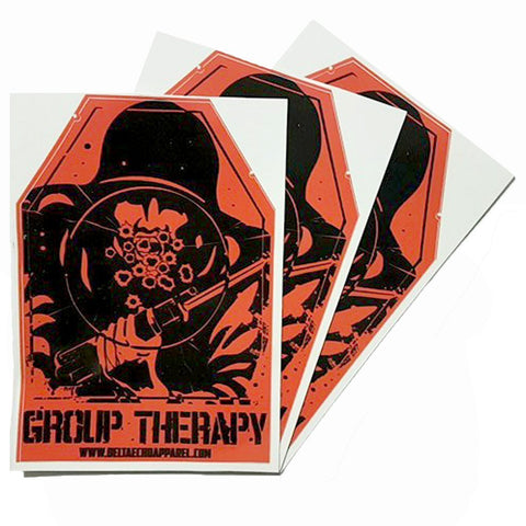DeltaEchoApparel Accessories GROUP THERAPY STICKERS
