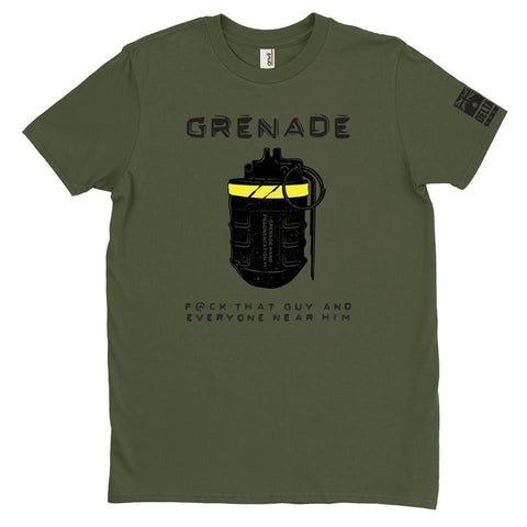 DeltaEchoApparel Shirt M / GREEN MEN'S T-SHIRT - F1 GRENADE