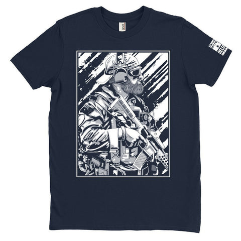 DeltaEchoApparel Shirt M / NAVY BLUE MEN'S T-SHIRT - BEARDED OPERATOR