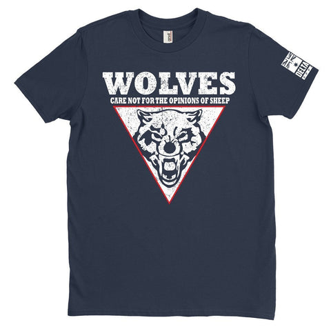 DeltaEchoApparel Shirt M / NAVY BLUE MEN'S T-SHIRT - WOLVES CARE NOT