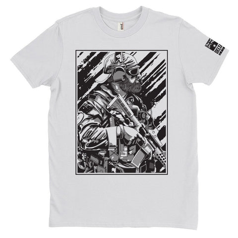 DeltaEchoApparel Shirt M / WHITE MEN'S T-SHIRT - BEARDED OPERATOR