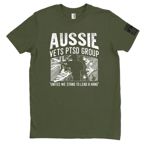 DeltaEchoApparel Shirt MALE / M / GREEN Aussie Vets PTSD Group - T-Shirt