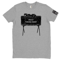DeltaEchoApparel Shirts M / GRAY MEN'S T-SHIRT - FRONT TOWARDS ENEMY