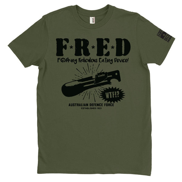 DeltaEchoApparel Shirts m / GREEN MEN'S T-SHIRT - F.R.E.D