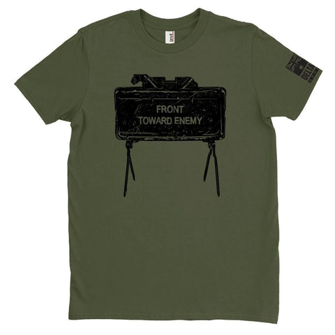 DeltaEchoApparel Shirts M / GREEN MEN'S T-SHIRT - FRONT TOWARDS ENEMY