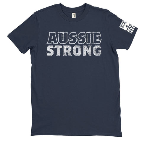 DeltaEchoApparel Shirts M / NAVY BLUE MENS T-SHIRT - AUSSIE STRONG