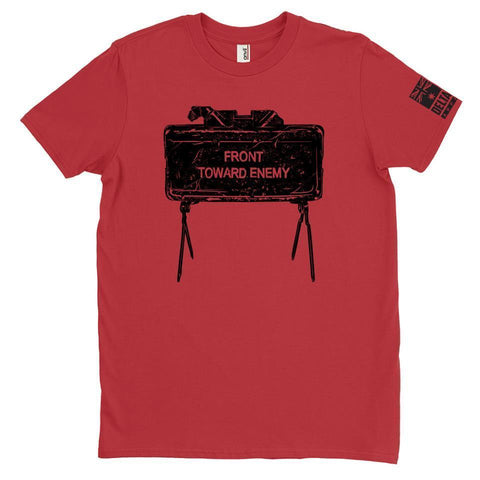 DeltaEchoApparel Shirts M / RED MEN'S T-SHIRT - FRONT TOWARDS ENEMY
