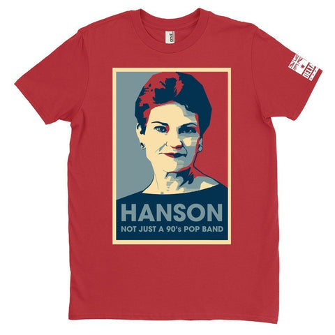 DeltaEchoApparel Shirts M / RED MEN'S T-SHIRT - HANSON
