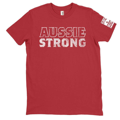 DeltaEchoApparel Shirts M / RED MENS T-SHIRT - AUSSIE STRONG