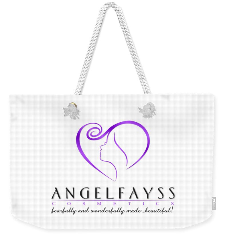 Purple & White AngelFayss Weekender Tote Bag