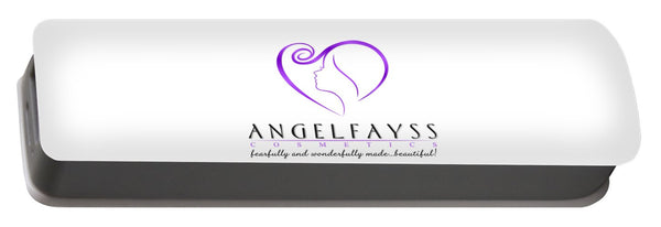 Purple & White AngelFayss - Portable Battery Charger
