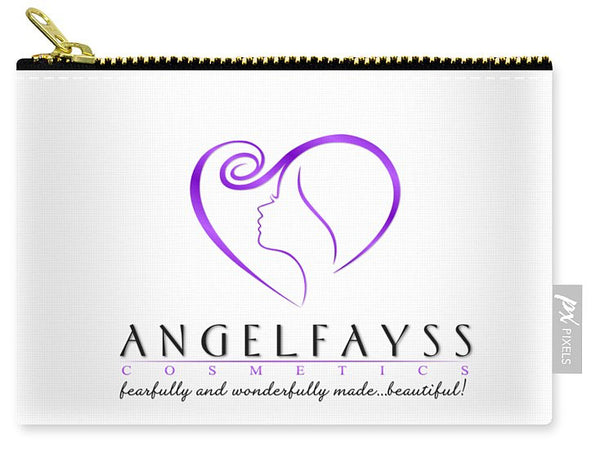 Purple & White AngelFayss Carry-All Pouch