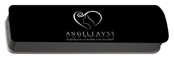 White & Black AngelFayss Portable Battery Charger