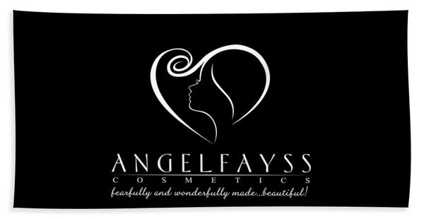 White & Black AngelFayss Beach Towel