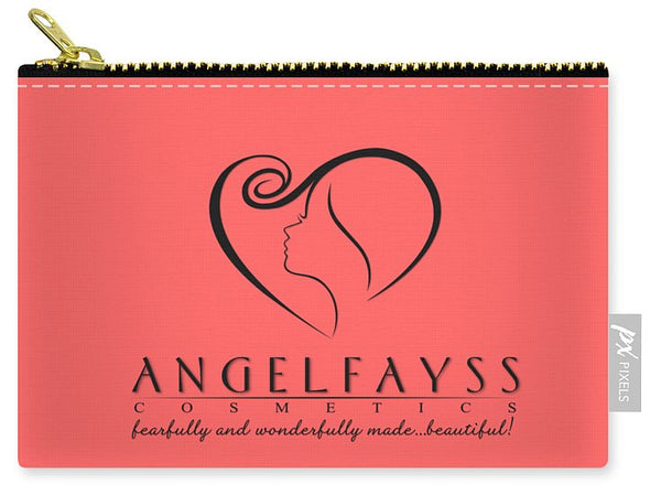 Black & Coral AngelFayss Carry-All Pouch
