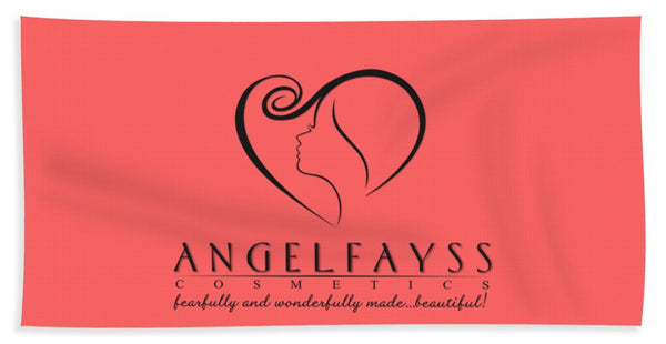 Black & Coral AngelFayss Beach Towel