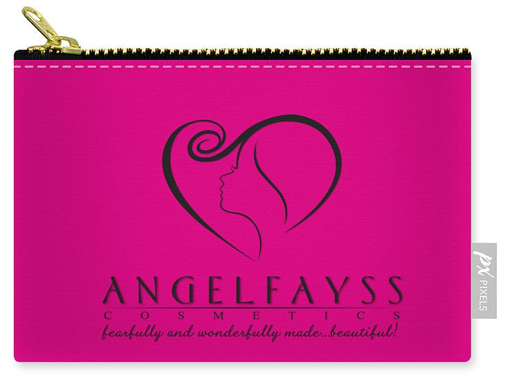 Black & Pink AngelFayss Carry-All Pouch
