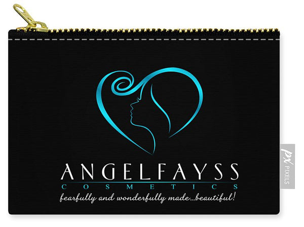 Blue & Black AngelFayss Carry-All Pouch