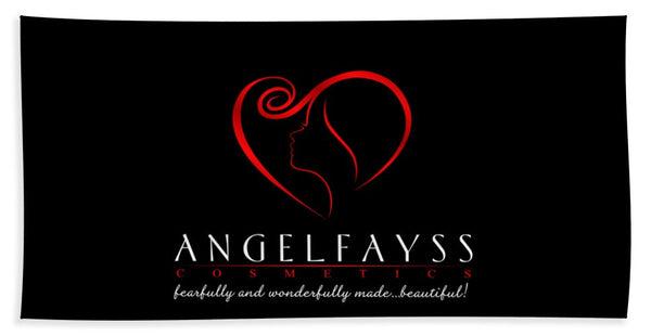 Red & Black AngelFayss Beach Towel