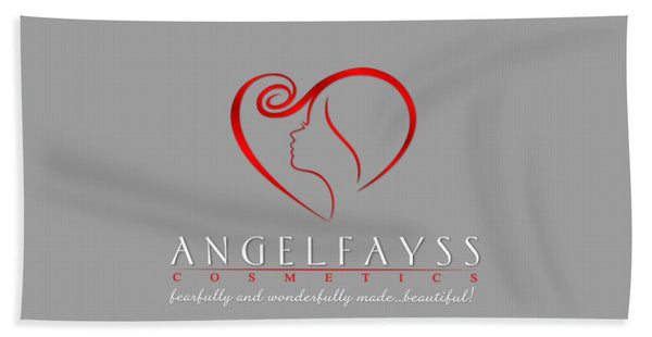Red & Grey AngelFayss Beach Towel