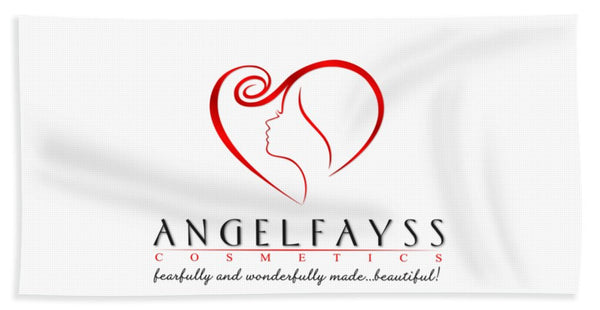 Red & White AngelFayss Beach Towel