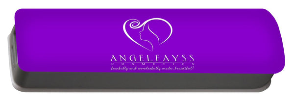 White & Purple AngelFayss Portable Battery Charger