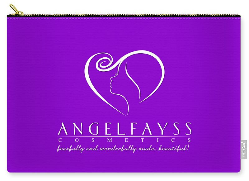 White & Purple AngelFayss Carry-All Pouch