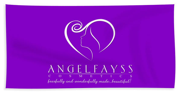 White & Purple AngelFayss Beach Towel