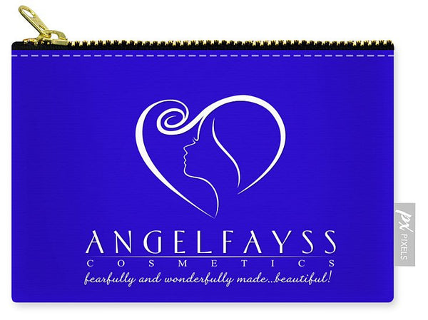 White & Blue AngelFayss Carry-All Pouch