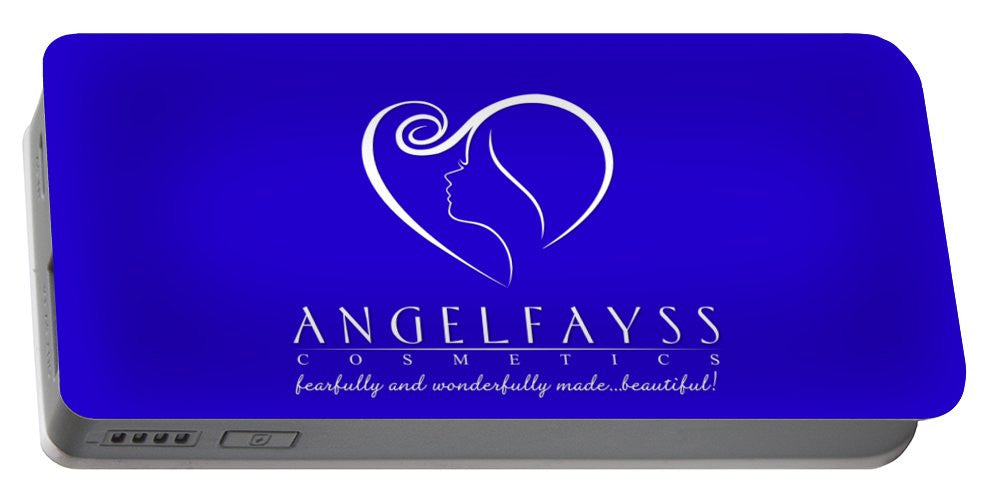 White & Blue AngelFayss Portable Battery Charger