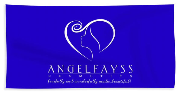 White & Blue AngelFayss Beach Towel