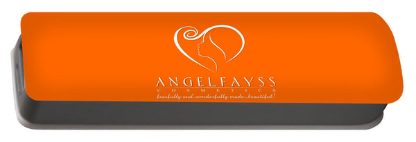 White & Orange AngelFayss Portable Battery Charger
