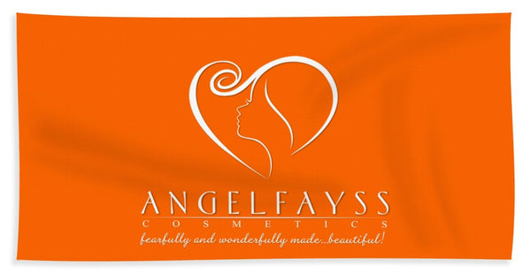 White & Orange AngelFayss Beach Towel