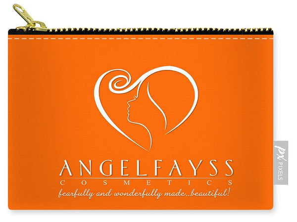 White & Orange AngelFayss Carry-All Pouch