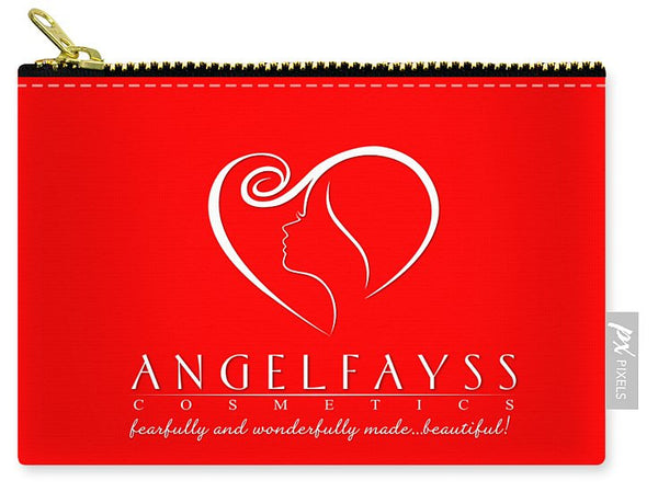 White & Red AngelFayss Carry-All Pouch