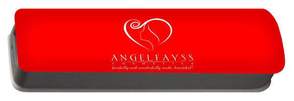 White & Red AngelFayss Portable Battery Charger