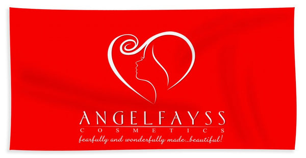 White & Red AngelFayss Beach Towel