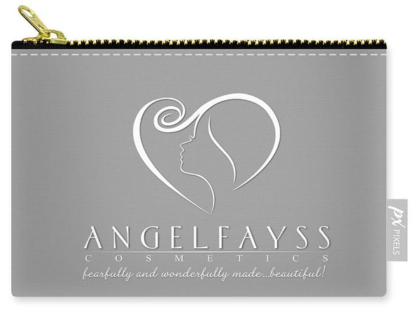 White & Grey AngelFayss Carry-All Pouch