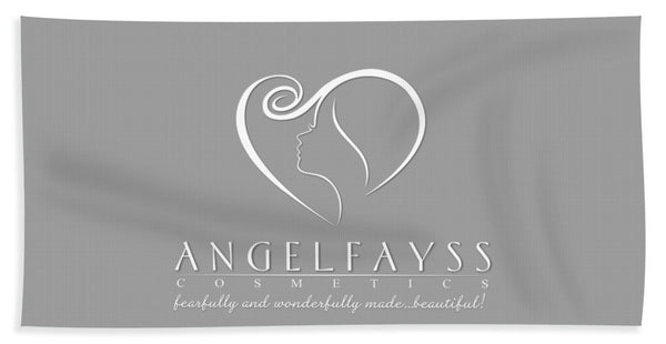 White & Grey AngelFayss Beach Towel