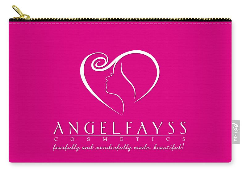 White & Pink AngelFayss Carry-All Pouch