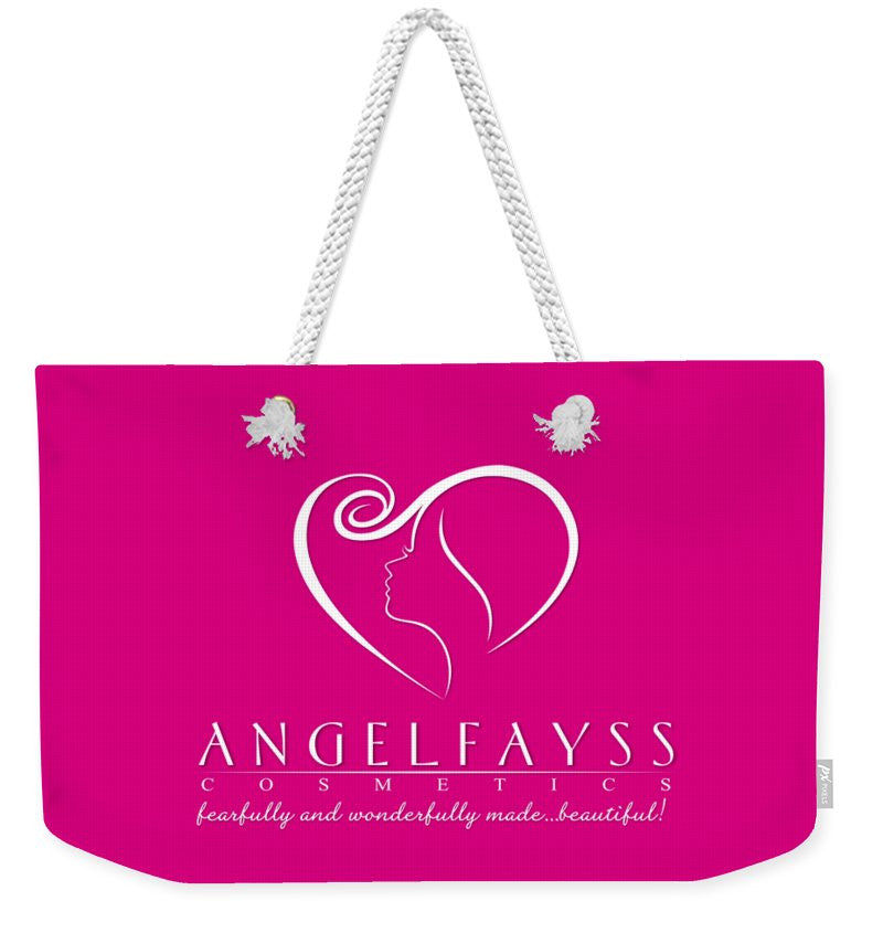 White & Pink AngelFayss Weekender Tote Bag