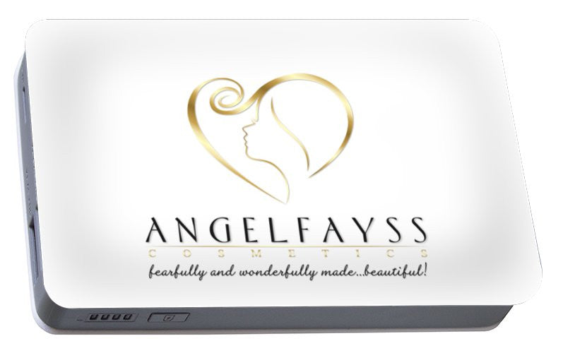 Gold & White AngelFayss Portable Battery Charger