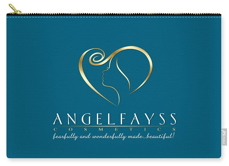 Gold & Aqua AngelFayss Carry-All Pouch