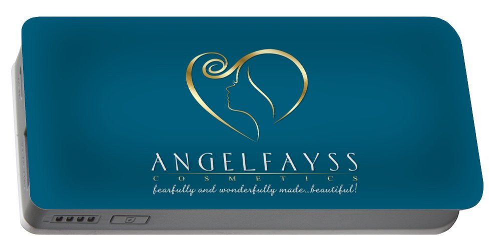 Gold & Aqua AngelFayss Portable Battery Charger